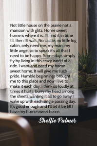 Home Sweet Home Poetry By Shellie Palmer