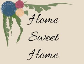 Home Sweet Home Vintage Design