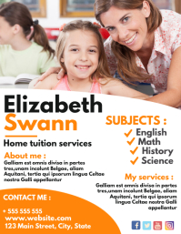 home tuition flyer advertisement
