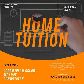 Home tuition learning teaching video template