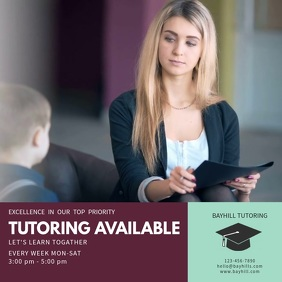 Home Tuition Service Video Template