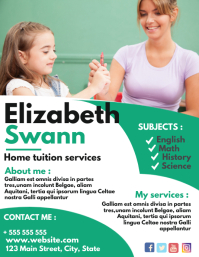 home tuition services flyer