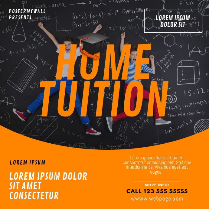 Home tuition teaching instagram post