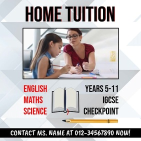 Home Tuition Video Template