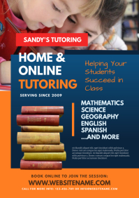 Home Tutoring Flyer A4 template