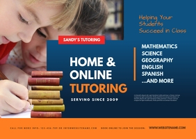 Home Tutoring Postcard template