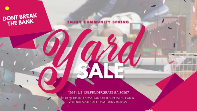 Home Yard Sale Display Banner Video