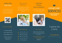 homecare and senior and elder assistance care A4 template