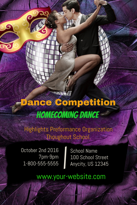homecoming flyer template