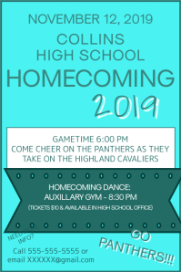 Homecoming Poster template