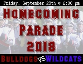 Homecoming Parade Video Flyer (format US Letter) template
