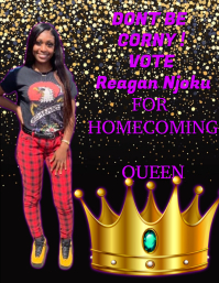 HOMECOMING QUEEN Flyer (US Letter) template