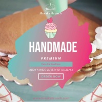 Homemade Bakery Ad Square Video Instagram Post template