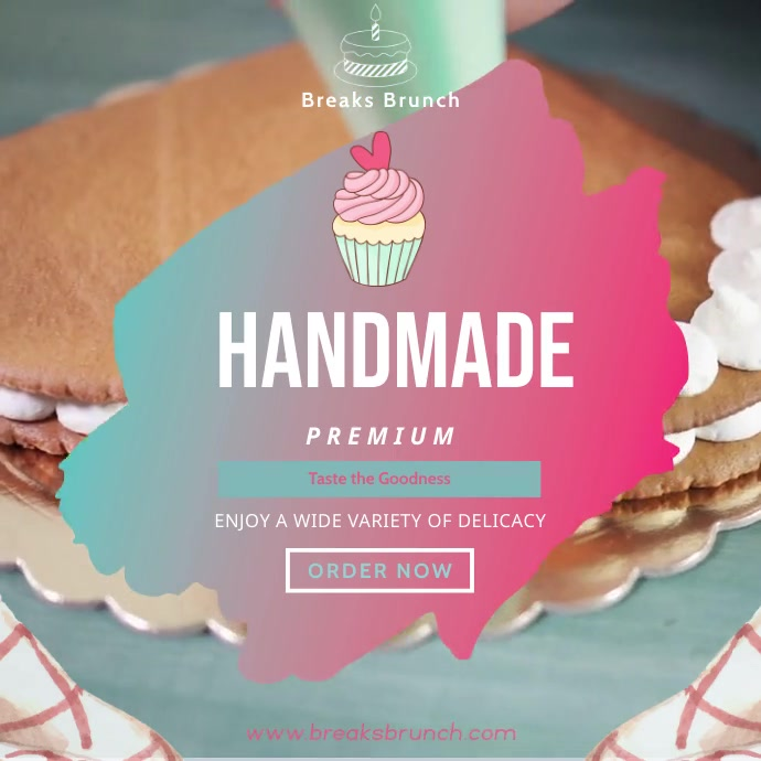 Homemade Bakery Ad Square Video Instagram-opslag template