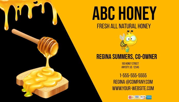 Honey Business Card 名片 template