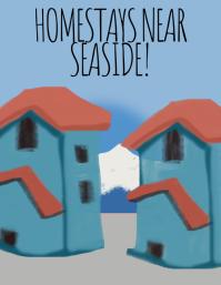 Homestays near seaside ใบปลิว (US Letter) template