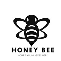 Honey bee logo for company template