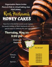 honey cake bake Løbeseddel (US Letter) template