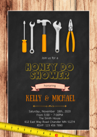 Honey do shower party invitation
