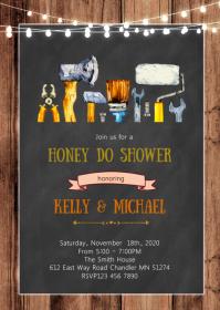 Honey do shower party invitation