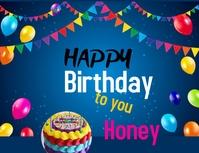 HONEY HAPPY BIRTHDAY POSTER TEMPLATE Folder (US Letter)