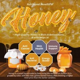 Honey Informative Facts Video Instagram Post template
