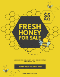 Honey selling sale flyer template