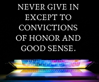 HONOR AND GOOD SENSE QUOTE TEMPLATE Medium Rectangle