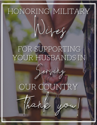 Honoring Military Wifes Template Pamflet (Letter AS)