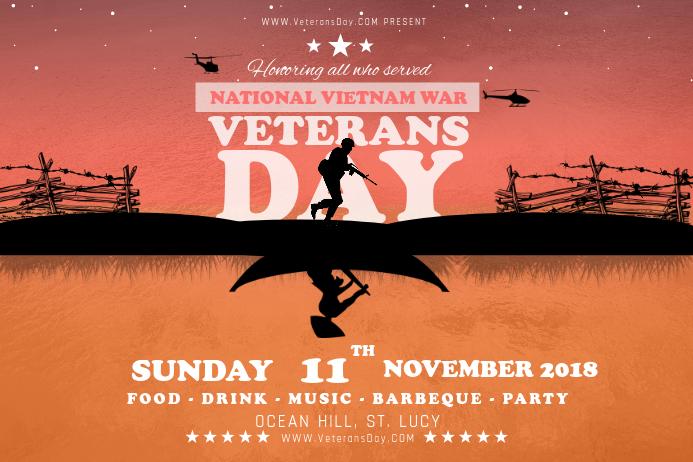 Honoring Veteran's Day Landscape Poster