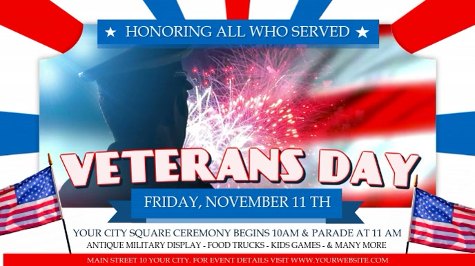 Honoring Veterans Day Digital Display Video