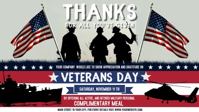 Honoring Veterans Day Facebook Cover Video
