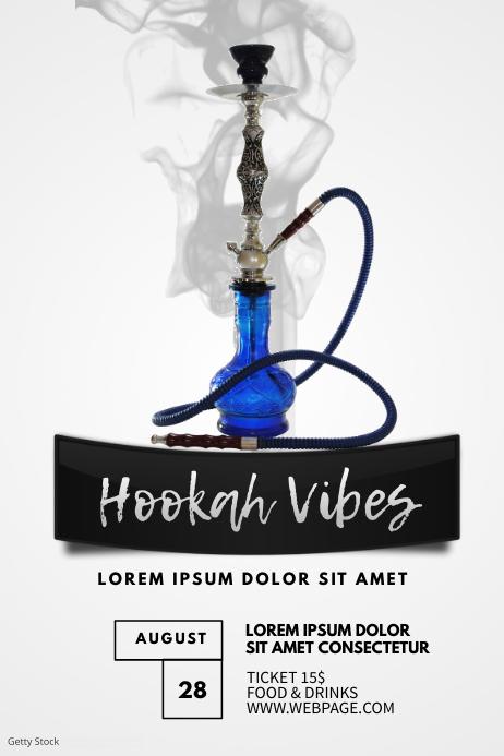Hookah Flyer Template Poster