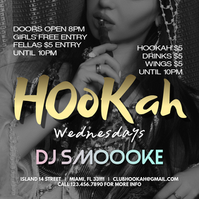 Hookah Instagram Banner Template