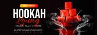 hookah lounge Portada de Facebook template