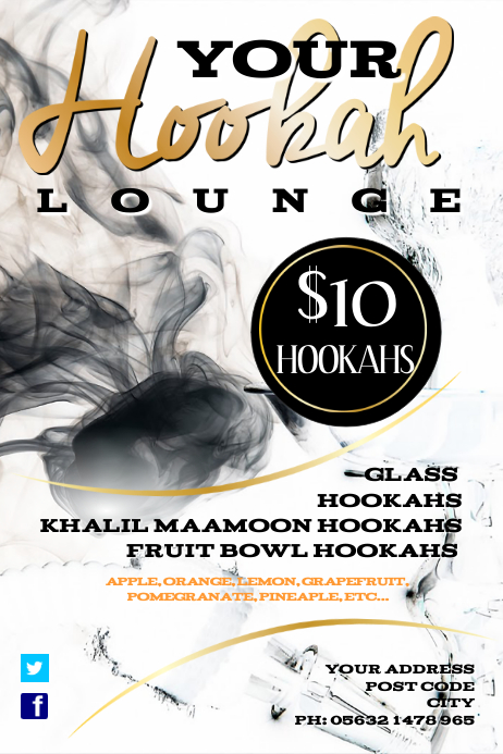 Hookah Lounge Flyer Template | Postermywall