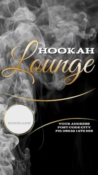 Hookah Lounge Instagram Post