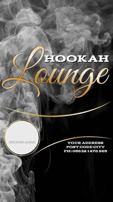 Hookah Lounge Instagram Post