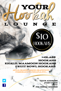 Hookah Lounge Poster Template