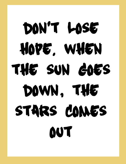 Hope Quotes Folder (US Letter) template