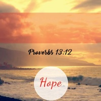 Hope Scripture Video Template Сообщение Instagram