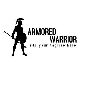 hoplite warrior logo template