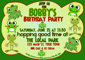 Hopping Good Time Birthday Invitation