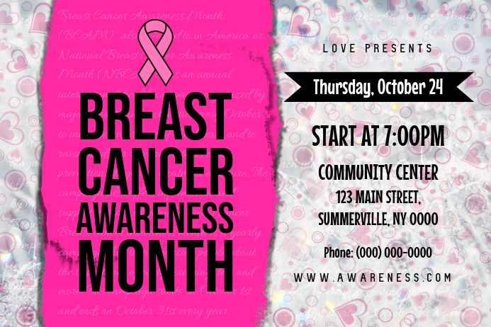 Horizontal Breast Cancer Poster