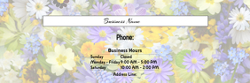 Horizontal Flower Banner template