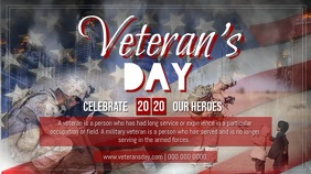 Horizontal Veteran's Day Digital Display Video 数字显示屏 (16:9) template