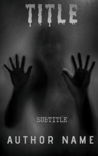 Horror book cover Sampul Buku template