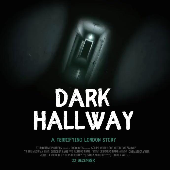 Horror Movie Poster Template Instagram 帖子