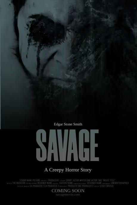 Horror Movie Poster Template Plakkaat