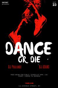 Horror Scary Halloween dance or die flyer